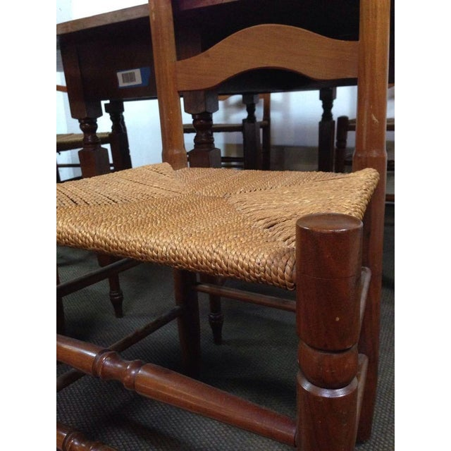 Colonial Dining Room Furniture: Colonial Style Carved Maple Dining Room Set - S/7
