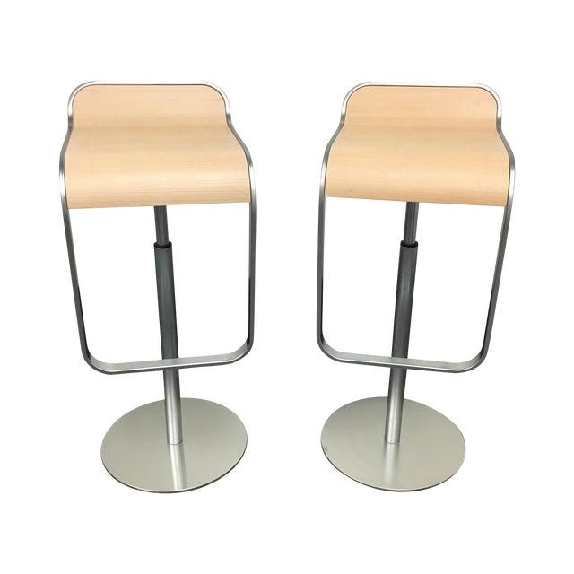 Lapalma Lem Adjustable Barstools - Pair - Image 1 of 8