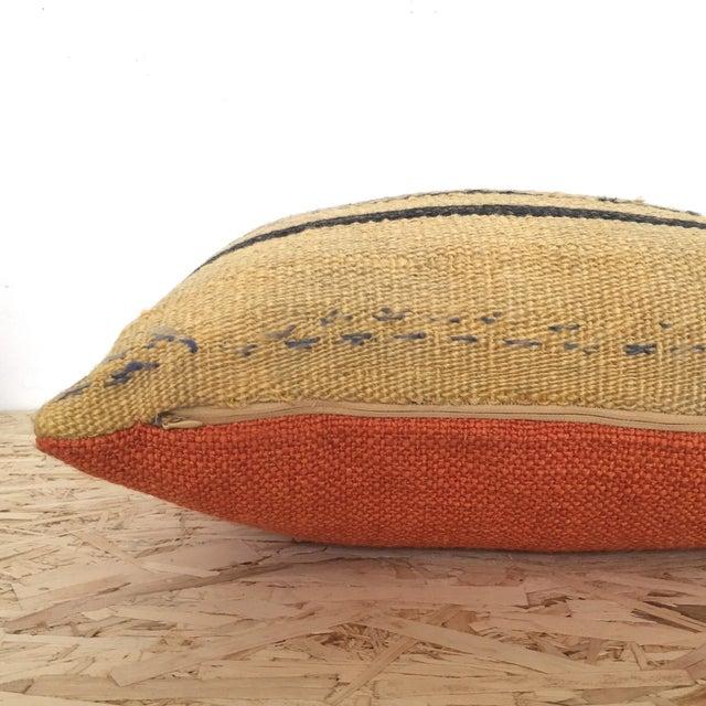 Vintage Hemp & Wool Striped Kilim Pillow - Image 5 of 5