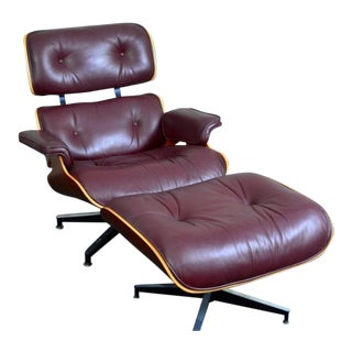 Herman Miller  Charles and Ray Eames Lounge Chair and Ottomanherman miller charles and ray eames lounge chair and ottoman  0999 aspect fit width 320 height 320. Eames Lounge Chair And Ottoman Walnut Frame Standard Leather. Home Design Ideas