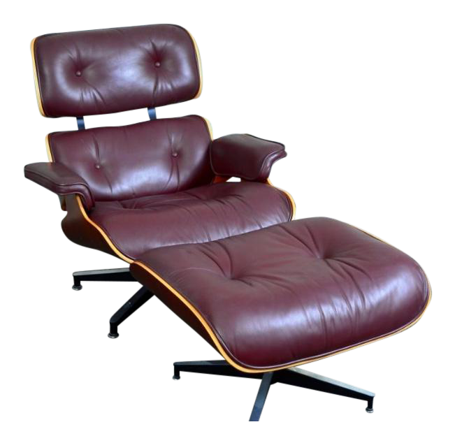 herman miller charles and ray eames lounge chair and ottoman