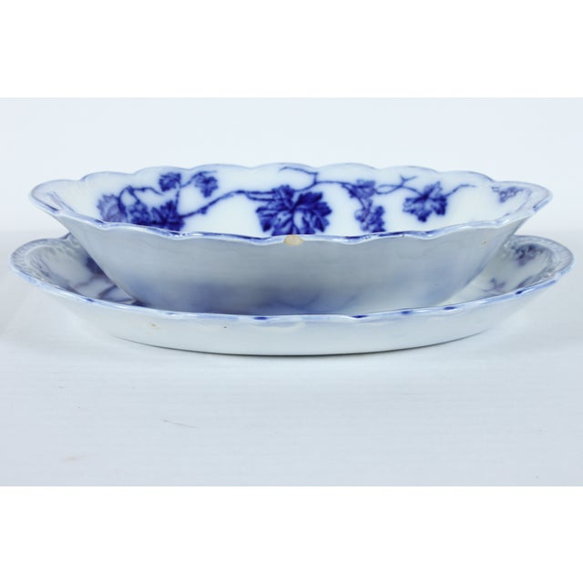 Image of Johnson Brothers Warwick Flow Blue Bowl & Tray