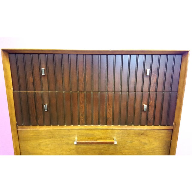 Mid-Century Lane Rosewood Accent Tall Chest - Image 6 of 11