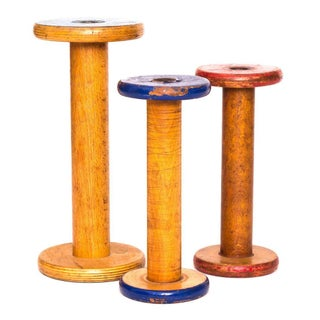 Canadian Textile Spools - Set of 3