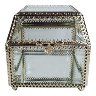 Boho Chic Glass Jewelry Box