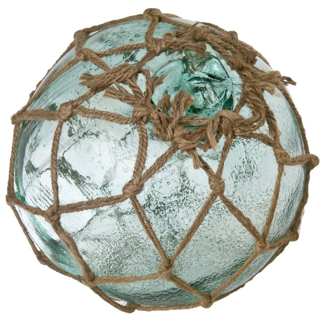 Image of Aqua Glass Fishing Float With Net