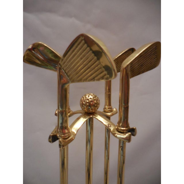 Vintage Artisan Golf Club Themed Fireplace Tools - Image 5 of 6