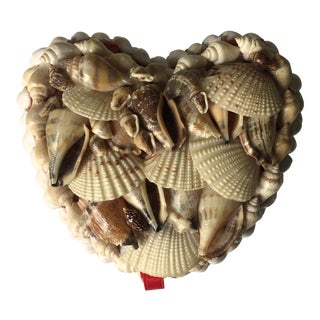 Vintage Heart Shaped Shell Box