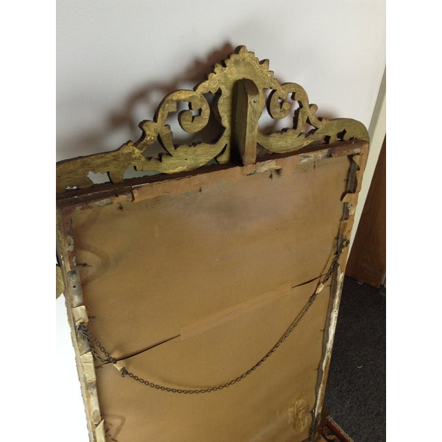 Image of Antique Gilded Ornate Wall Mirror