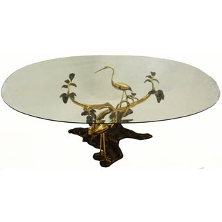 Willy Daro Vintage Bronze & Brass Coffee Table