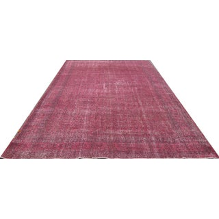 Vintage Overdyed Turkish Rug - 7′ × 11′