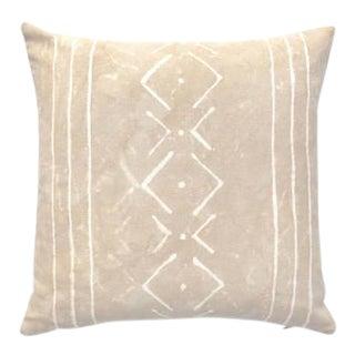 "Beige Boho Geometric Design Pillow Cover - 18"" x 18"""