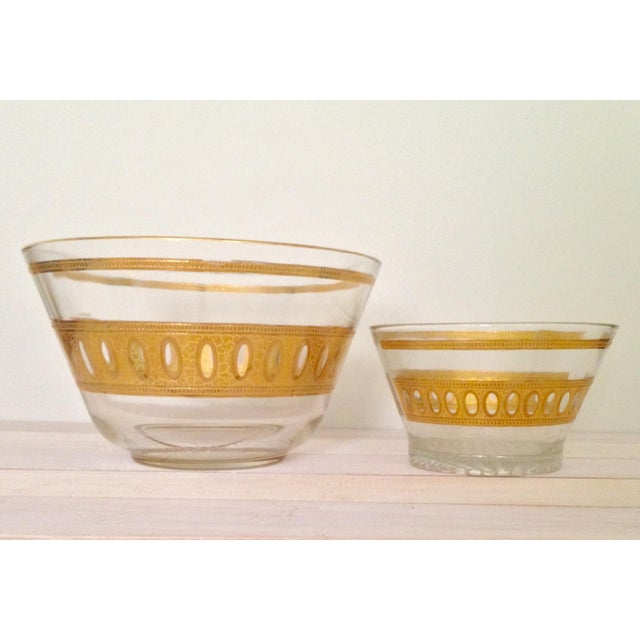Image of Vintage Culver Antigua Glass Bowls - A Pair