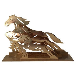 Brass Horse Letter Holder