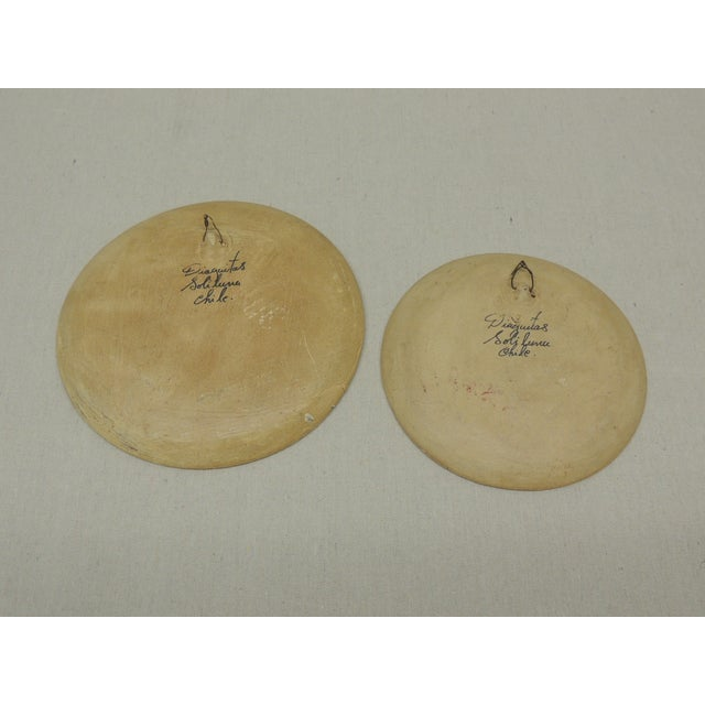 Vintage Terracotta Painted Dishes - Pair - Image 4 of 4