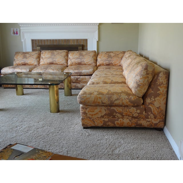 Baker Furniture Armless Sectional Sofa - 3 Pieces - Image 10 of 10