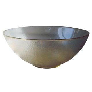 Vetreria Lux Gold Glass Serving Bowl