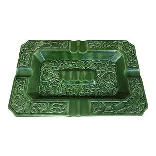 Nouveau Celtic Glazed Ceramic Ashtray