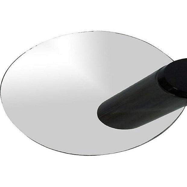 Zephyr-Style Black Cylinder Base Coffee Table - Image 2 of 6