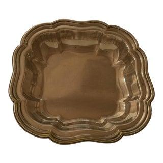 Vintage Sheffield Silver Plate Scallop Edge Serving Bowl