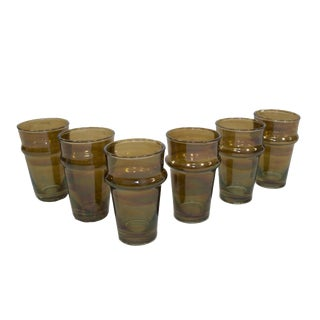 Beldi Brown Tea Glasses - Set of 6