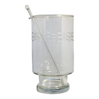 Etched Glass Cocktail Mixer