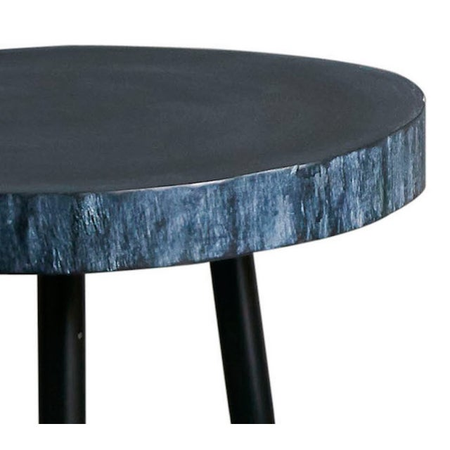 Image of Small Black Wood Side Table