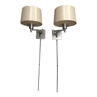 Real Simple Swingarm Sconces - A Pair
