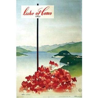 1949 Vintage Italian Travel Poster, Lake of Como
