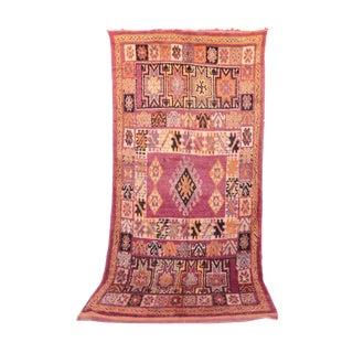 "Vintage Moroccan Beni M'Guild Rug - 6'6"" x 13'3"""