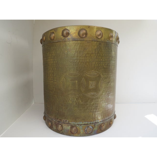 Brass Drum-Style Cachepot - Image 8 of 8