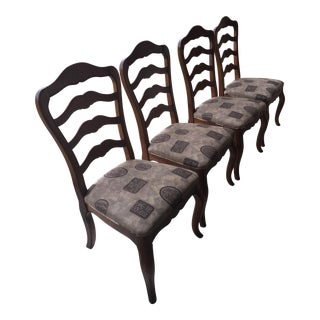 Ethan Allen Country French Dining Chairs - Set of 4