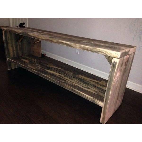 Custom Rustic Wood Bench - Image 2 of 7