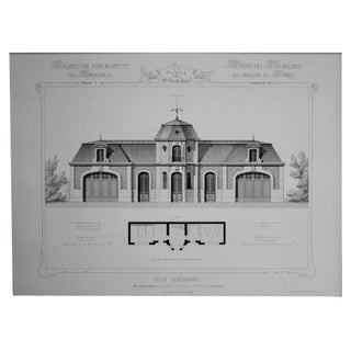 Cesar Daly 19th Century Architectural Drawing V