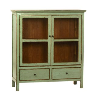 Green Painted Sideboard