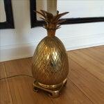 Image of Brass Pineapple Lamp
