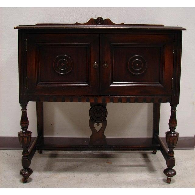 Image of Ornate Tudor Turned Small Server Cabinet