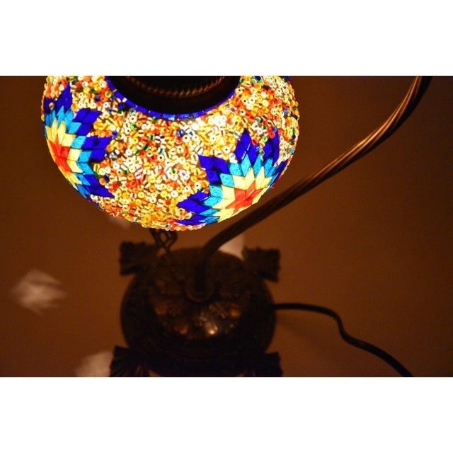 Turkish Handmade Mosaic Lamp - Image 6 of 7