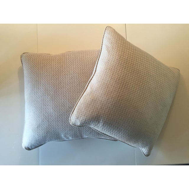 Nobilis Chevron Patterned Pillows - A Pair - Image 2 of 8