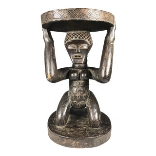 African Democratic Republic of Congo Figural Luba Stool