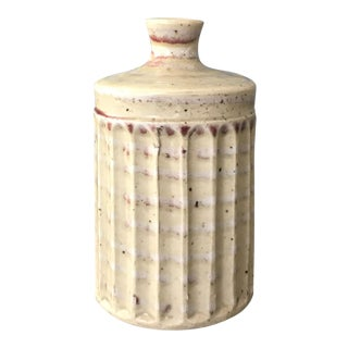 Small Cream Clay Vase
