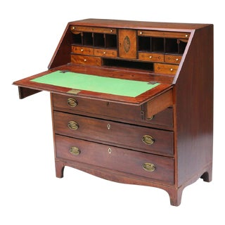 English Mahogany Slant Front Desk