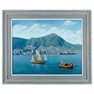 """""""View of Hong Kong Harbor"""" by David Cheng"""