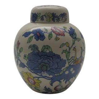 English Mason's Floral Ginger Jar