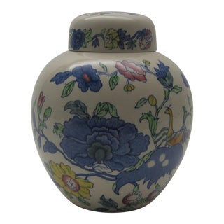 English Mason's Floral Ginger Jar