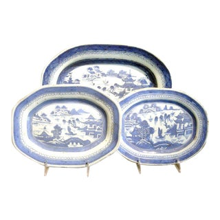 Collection of Three Chinese Export Canton Platters