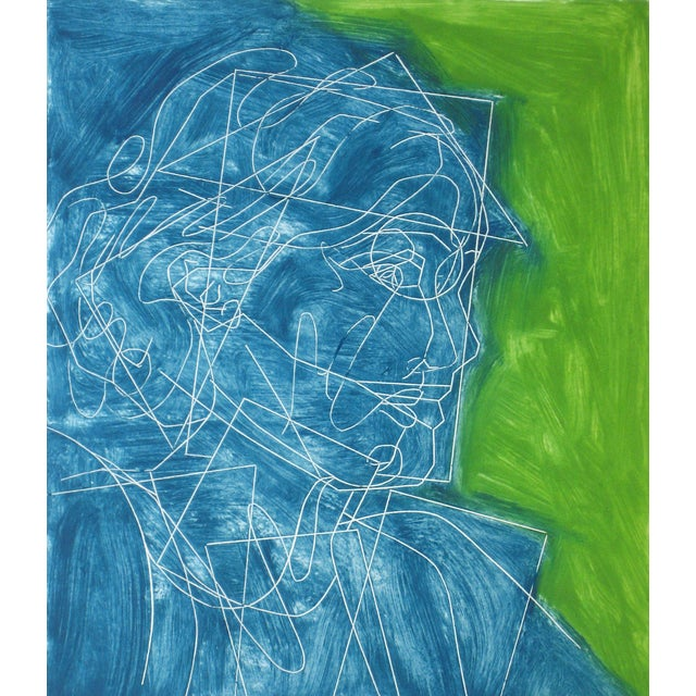 "Rob Delamater ""Virginia Woolf IV"" Block Print - Image 2 of 2"