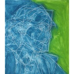 "Image of Rob Delamater ""Virginia Woolf IV"" Block Print"
