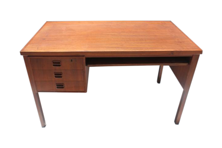 Maurice Villency Mid Century Danish Teak Desk   Image 1 Of 11