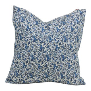 Liberty of London Blue Floral Pillow Cover